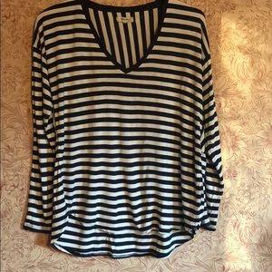 Madewell striped longsleeved shirt Large navy